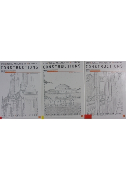 Structural analysis of historical constructions  Tom I - III
