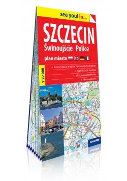 Szczecin i Police papierowy plan miasta 1:22 000