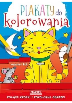 Plakaty do kolorowania - Myszka i kot