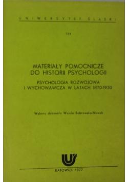 Materiały pomocnicze do historii psychologii