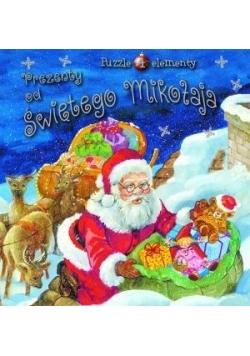 Prezenty od Świętego Mikołaja. Książka z puzzlami
