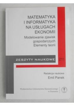 Matematyka i informatyka na usługach ekonomii, Zeszyt naukowy 211