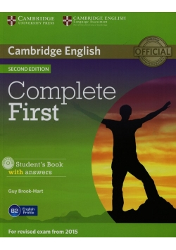 Complete First Student's Book with answers + CD