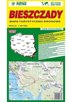 Bieszczady 1:60 000 mapa turystyczna PIĘTKA