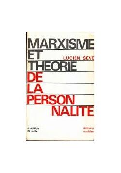 Marxisme et theorie de la person nalite