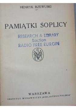 Pamiątki Soplicy, ok 1950r.