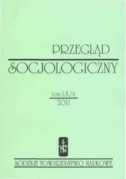 Przegląd Socjologiczny,tom LX/4