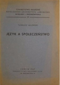 Język a społeczeństwo, 1947 r.