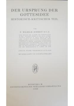 Der Ursprung der Gottesidee, 1926r.