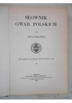 Słownik gwar polskich, Tom V, reprint 1907 r.