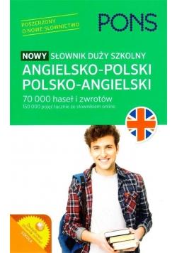 Nowy słownik duży szkolny ang-pol-ang w.2 PONS