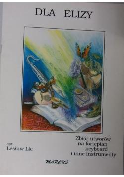 Dla Elizy  zbiór utworów na fortepianie keyboard i inne instrumenty