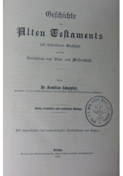 Geschichte des Alten Testamentes, 1902r.