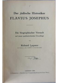Der judische Historiker Flavius Josephus,1920r.