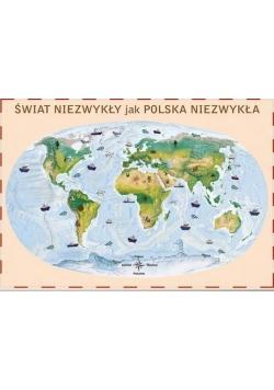 Świat. Mapa ścienna Polska Niezwykła Junior