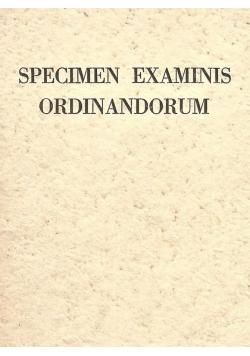 Specimen examinis ordinandorum