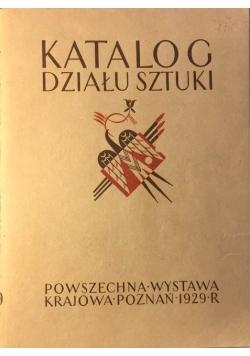 Katalog działu sztuki, 1929 r.