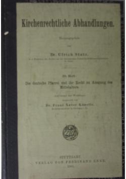 Kirchenrechtliche Abhandlungen, 1905r.