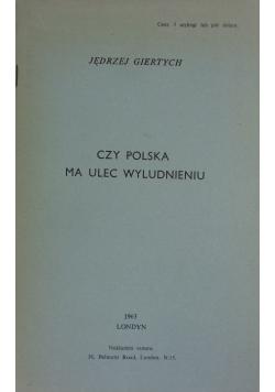 Czy Polska ma ulec wyludnieniu