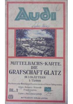 Mittelbachs-Karte. Die Grafschaft Glataz