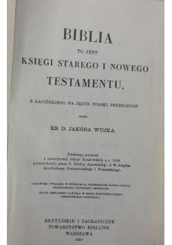 Biblia księga Starego i Nowego Testamentu