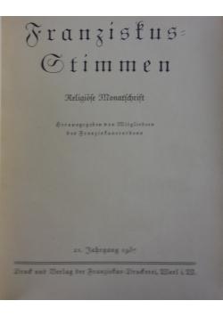 Franziskus Stimmen, 1937 r.