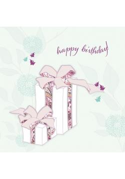 Karnet Swarovski kwadrat CL0506 Urodziny prezenty