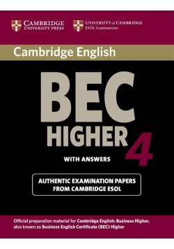 Cambridge BEC Higher 4 Student's Book with answers