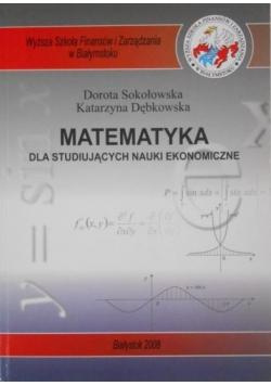 Matematyka dla studiujących nauki ekonomiczne