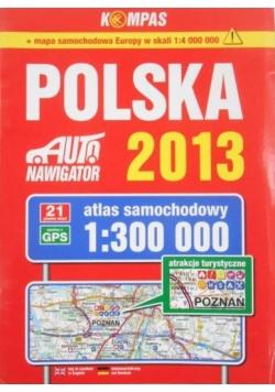 Polska.Atlas samochodowy 1:300 000