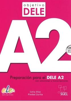 Objetivo DELE nivel A2 Książka + CD