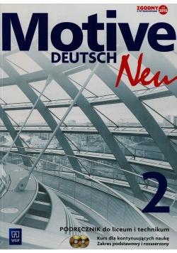 Motive Deutsch Neu 2 Podręcznik dla kontynuujących naukę + 2CD Zakres podstawowy i rozszerzony