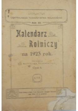 Kalendarz rolniczy na rok 1923 rok, cz. II
