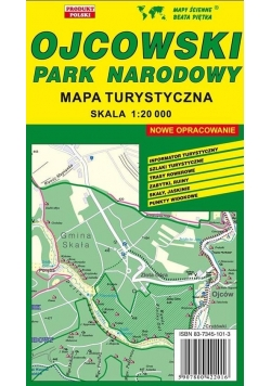 Ojcowski PN 1:20 000 mapa turystyczna PIĘTKA