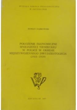 Położenie ekonomiczne mniejszości Niemieckiej w Polsce w okresie międzywojennego dwudziestolecia