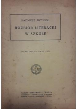 Rozbiór literacki w szkole , około 1950 r.