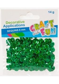 Ozdoba dekoracyjna guzik laser 8mm zielone