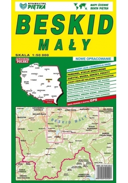 Beskid Mały 1:50 000 mapa turystyczna PIĘTKA