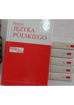 Słownik języka polskiego tom. 2,3,4,5,6,8