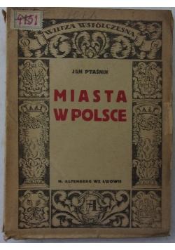 Miasta w Polsce, 1922r.