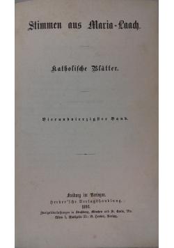 Stimmen aus Maria-Laach, 1893 r.