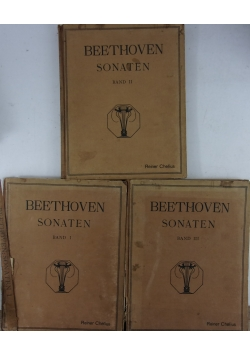 Bathoven Sonate Band I,II,III
