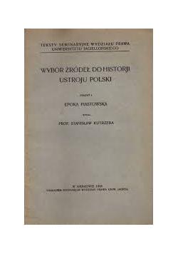Wybór źródeł do historji ustroju polski, 1928r