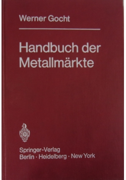 Handbuch der Metallmarkte