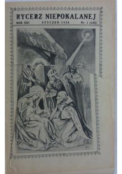 Rycerz Niepokalanej, 1934 r.