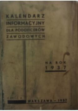 Kalendarz Informacyjny dla podoficerów zawodowych, 1937r.