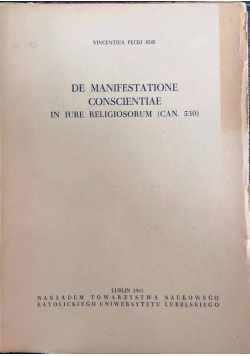 De manifestatione conscientiae