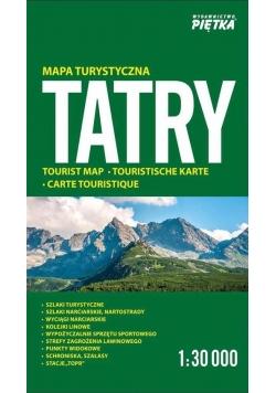 Tatry 1:30 000 mapa turystczna PIĘTKA