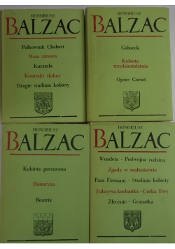 Balzac, dzieła wybrane, 4 ksiązki