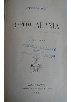 Opowiadania,1899 r.